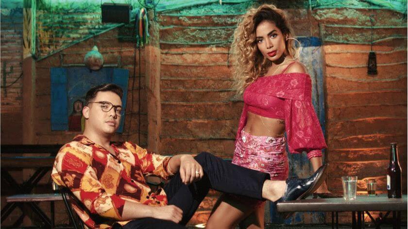Musicas mais tocadas de 2018 ate julho entre elas está Wesley Safadão e Anitta