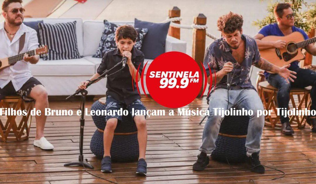 Filhos de Bruno e Leonardo lançam a Música Tijolinho por Tijolinho