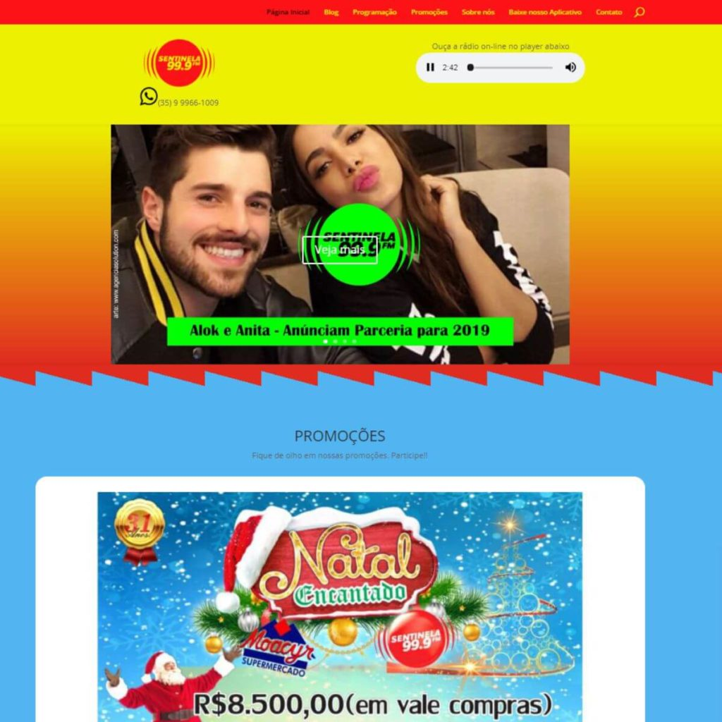 Novo site Sentinela FM